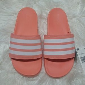 NWT Adidas Adilette Comfot Coral Slide Sandals